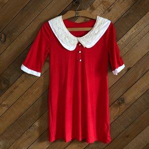 Vintage home sewn babydoll 'Annie' tunic dress
